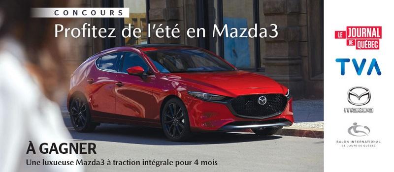 Concours Profitez de l'été en Mazda3!