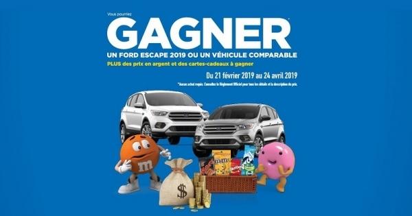 Concours GAGNEZ UN FORD ESCAPE SE 2019!