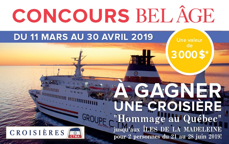 Concours Gagnez une croisière d'une semaine de Montréal jusqu'aux Îles de la Madeleine!