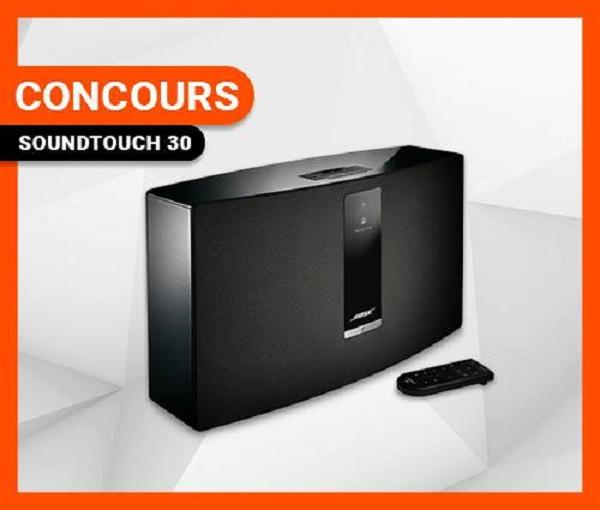 Concours Gagnez un système de musique sans fil Bluetooth Bose SOUNDTOUCH 30 d'une valeur de 600$!