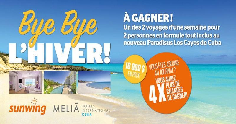 Concours BYE BYE L'HIVER!