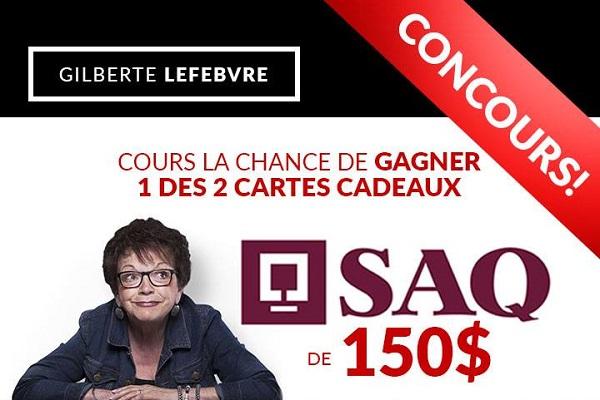 Concours Gagnez une carte cadeau SAQ de 150$!