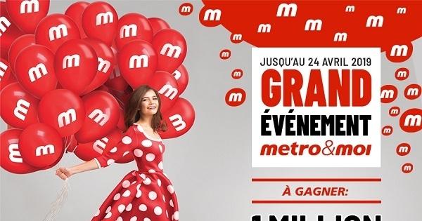 Concours Gagnez 1 million de points logo points Métro chaque semaine!