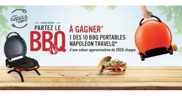 Concours Gagnez 1 des 10 BBQ portables Napoléon Travel Q!