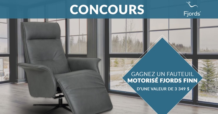 Concours Gagnez un Fauteuil motorisé en cuir FJORDS Finn d'une valeur de 3 349$!