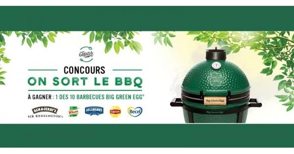 Concours Gagnez un des 10 barbecue de marque Big Green Egg MiniMax!
