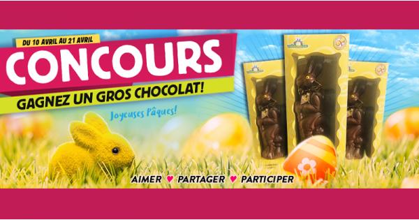 Concours Gagnez l'un des 3 lapins en chocolat offert par Meubles Domon!