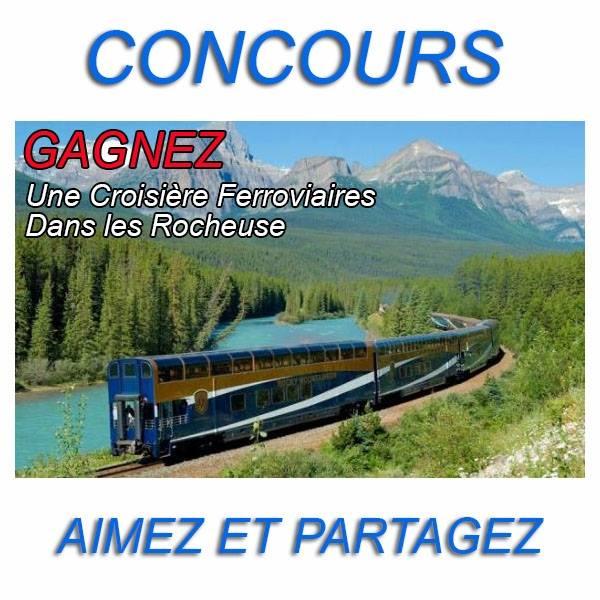 Concours Gagnez une croisière ferroviaire dans les Rocheuses