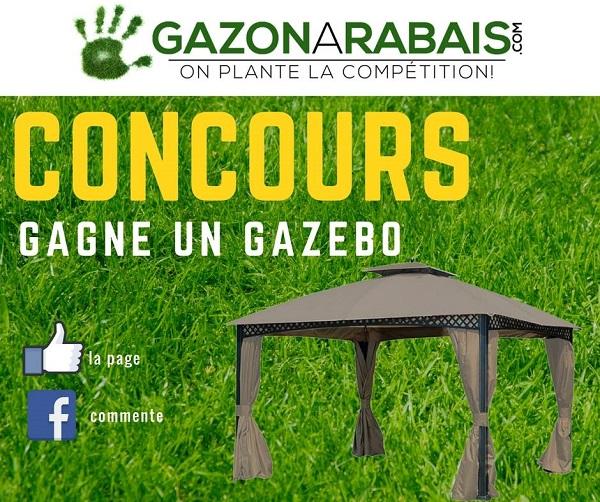 Concours Gagnez un GAZEBO livré directement chez vous par Gazon à rabais!