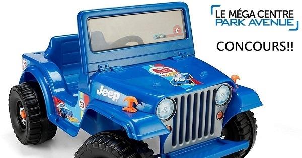 Concours Gagnez un jouet porteur Hot Wheels Jeep Wrangler!