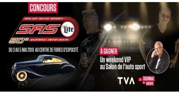 Concours Gagnez un weekend VIP au Salon de l'auto sport de Québec!