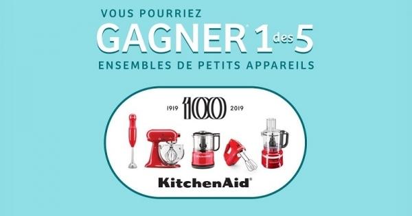 Concours Gagnez un des 5 ensemble de petits appareils KitchenAid!