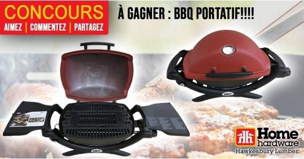 Concours Gagnez un BBQ portatif offert par Home Hardware Hawkesbury!