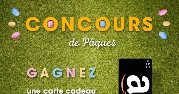 Concours Gagnez une carte cadeau Amazon.com de 50$!