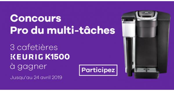 Concours Gagnez l'une des trois cafetières Keurig K1500!