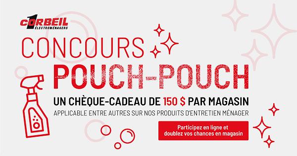 Concours Gagnez l'un des 30 chèques-cadeaux de 150$ échangeables dans un magasins Corbeil au Québec!