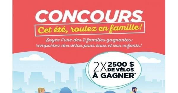 Concours Gagnez des vélos pour vous et vos enfants!