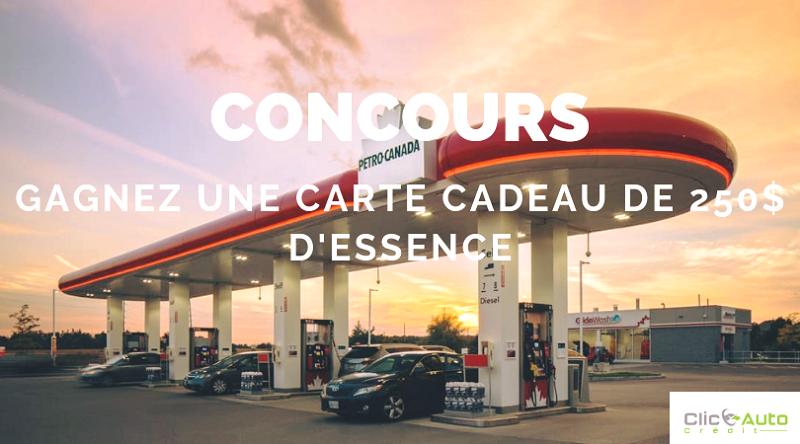 Concours Gagnez une carte cadeau de 250$ d'essence!