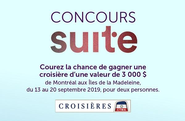 Concours Gagnez une croisière d'une semaine pour deux personnes de Montréal aux Îles de la Madeleine!