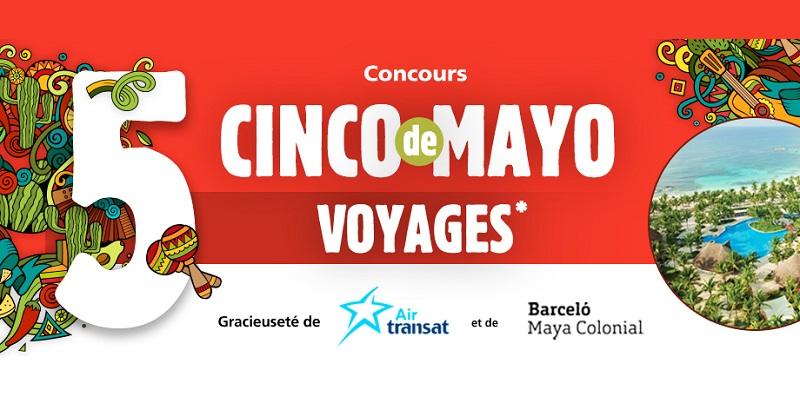 Concours Gagnez l'un des 5 voyages tout inclus pour deux au Mexique!