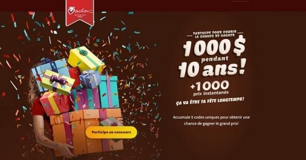 Concours Gagnez 1000 $ par année pour 10 ans!