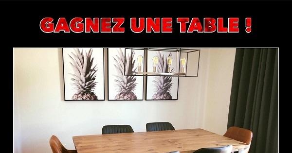 Concours Gagnez une table offerte par l'Atelier Bleu de Plume!