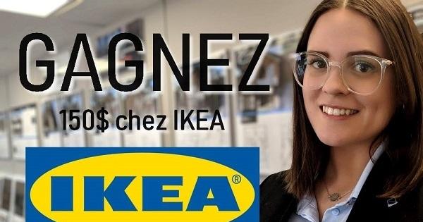 Concours Gagnez une carte-cadeau de 150$ chez IKEA!