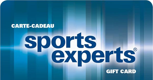 Concours Gagnez une carte-cadeau de chez Sports Experts d'une valeur de 50$!