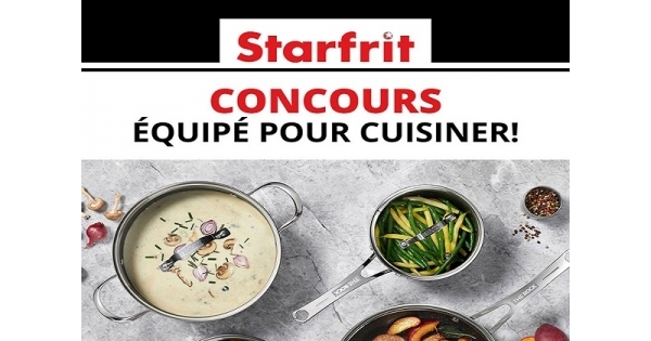Concours Gagnez une batterie de cuisine The Rock de Starfrit!