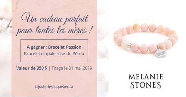 Concours Gagnez un bracelet Mélanie Stones!