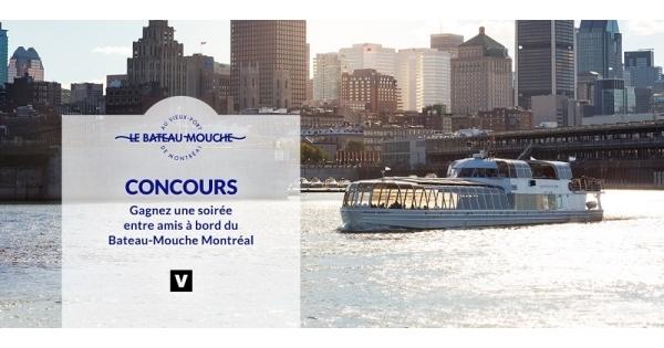 Concours Montez à bord du Bateau-Mouche Montréal!