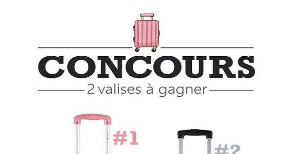 Concours Gagnez une valise format moyen de marque Lollipops ou Oh La La Paris!