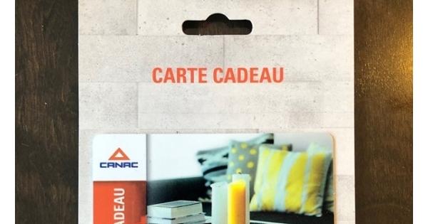 Concours Gagnez 100$ en carte cadeau chez Canac!