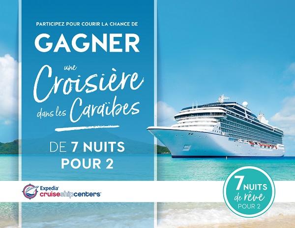 Concours Gagnez une croisière dans les caraïbes pour 2 pour 7 nuits!