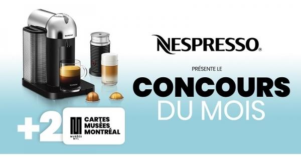 Concours Gagnez une machine à café Nespresso!