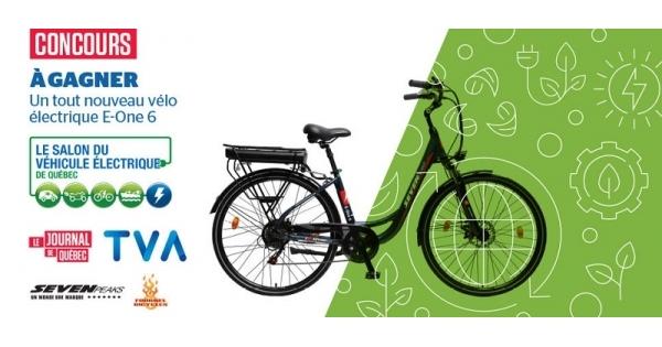 Concours Gagnez le tout nouveau vélo électrique E-One 6 d'une valeur de 1 700$!