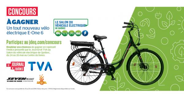 Concours Gagnez un Vélo Électrique E-One 6!