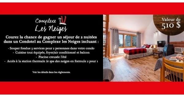 Concours Gagnez un forfait au Complexe les Neiges!