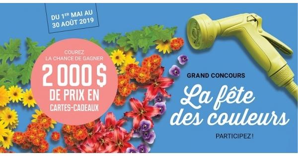 Concours Gagnez 2 000 $ en cartes-cadeaux échangeable contre des produits de jardinage et services professionnels en entretien paysagers!
