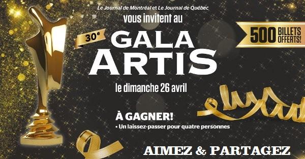 Concours 30e Gala Artis