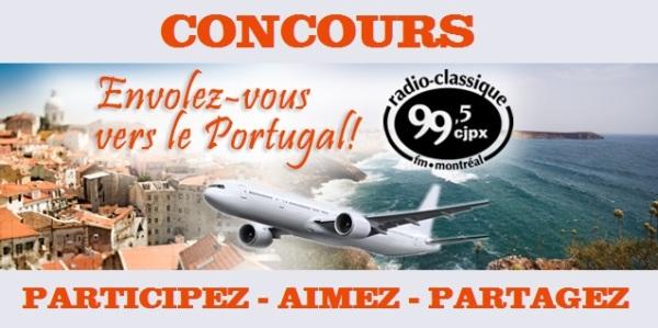 Concours Envolez-vous vers le Portugal!