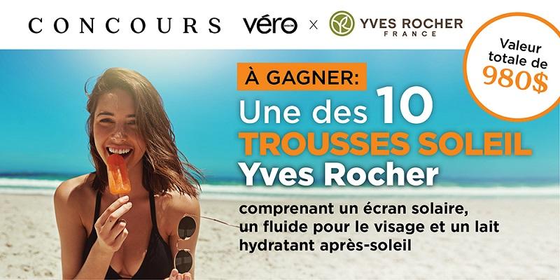 Concours GAGNEZ UNE DES 10 TROUSSES SOLEIL YVES ROCHER!
