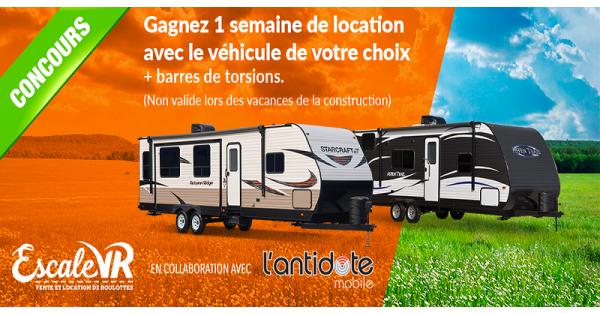 Concours Gagnez une location de 1 semaine avec le véhicule de votre choix!