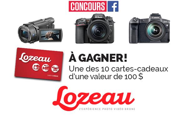 Concours Gagnez une des 10 cartes-cadeaux de Lozeau d'une valeur de 100$!