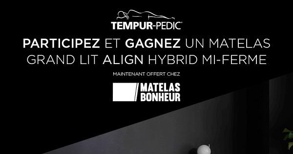 Concours Gagnez un matelas Grand lit TEMPUR-Pedic!