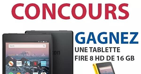 Concours Gagnez une Tablette Fire 8 HD de 16 GB!