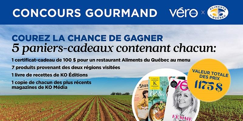 Concours Gagnez l'un des 5 paniers-cadeaux de la tournée Aliments du Québec!