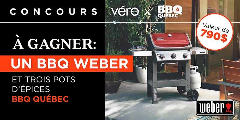 Concours Gagnez un nouveau BBQ Weber et les épices BBQ Québec!