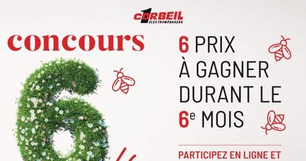 Concours Gagnez l'un des 6 prix offerts par Corbeil Électroménagers!