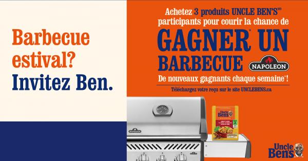 Concours Gagnez un des 33 barbecue Napoléon d'une valeur de 750$ chacun!